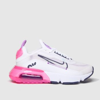 Nike White & Pink Air Max 2090 Girls Youth#