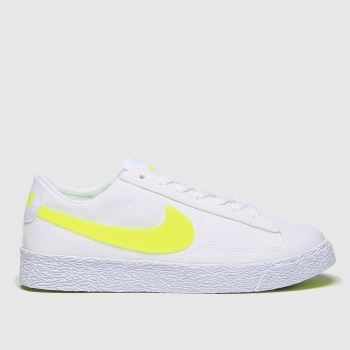 Nike White & Yellow Blazer Low Girls Youth