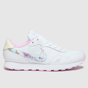 Nike White & Pink Md Valiant Girls Youth