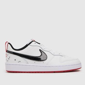 Nike White & Black Court Borough Low 2 Se Girls Youth