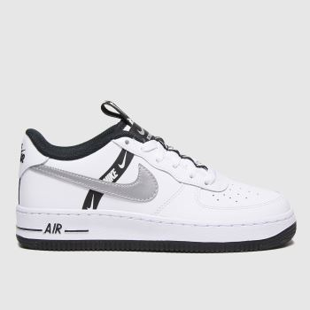 Nike White & Silver Air Force 1 Lv8 Ksa Girls Youth