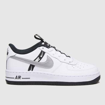 Nike Weiß-Silber Air Force 1 Lv8 Ksa MädchenJugendliche