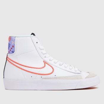 Nike White & Purple Blazer Mid 77 Se Girls Youth