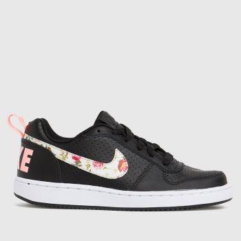 Nike Black & pink Court Borough Low 2 Girls Youth