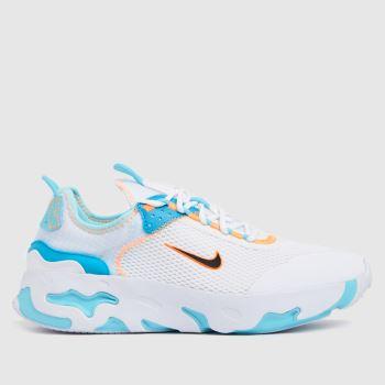 Nike White & Pl Blue React Live Girls Youth