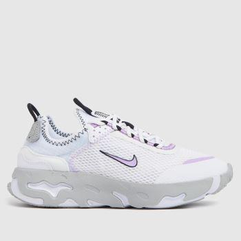 Nike White & Purple React Live Girls Youth