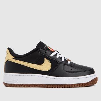 Nike Black & Brown Air Force 1 Lv8 Girls Youth