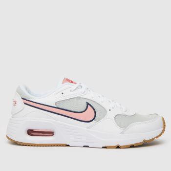 Nike White & Pink Air Max Sc Girls Youth