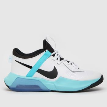 Nike White & Pl Blue Air Zoom Crossover Girls Youth