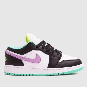 Nike Jordan White & Purple 1 Low Girls Youth