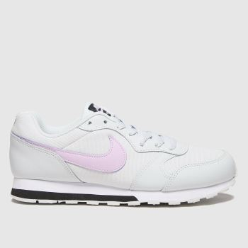Nike White & Pink Md Runner 2 Girls Youth#