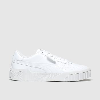 Puma White Cali Girls Youth