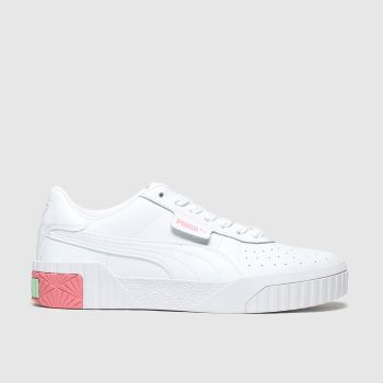 Puma White & Pink Cali Girls Youth