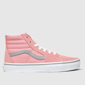 Vans Pale Pink Sk8-hi c2namevalue::Girls Youth