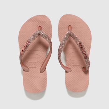 Havaianas Pale Pink Slim Glitter Ii Girls Youth