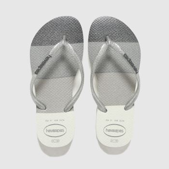 Havaianas Silver Slim Palette Glow Girls Youth