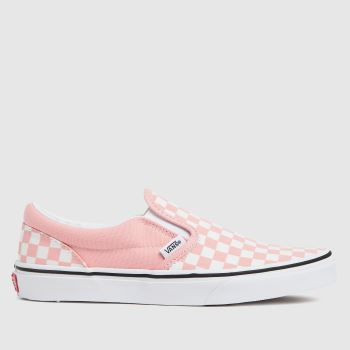 Vans White & Pink Classic Slip-on Girls Youth