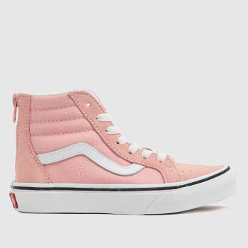 Vans Pale Pink Sk8-hi Zip Girls Youth