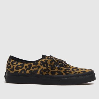 Vans Brown & Black Authentic Leopard Girls Youth