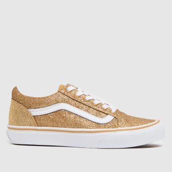 Vans Gold Old Skool Glitter Girls Youth