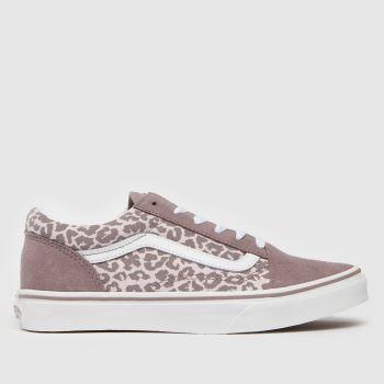 Vans Violett Old Skool Leopard MädchenJugendliche