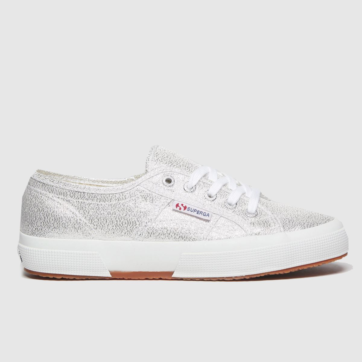 Superga Silver 2750 Lame Trainers Youth