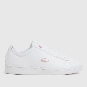 Lacoste White Carnaby Evo Girls Youth