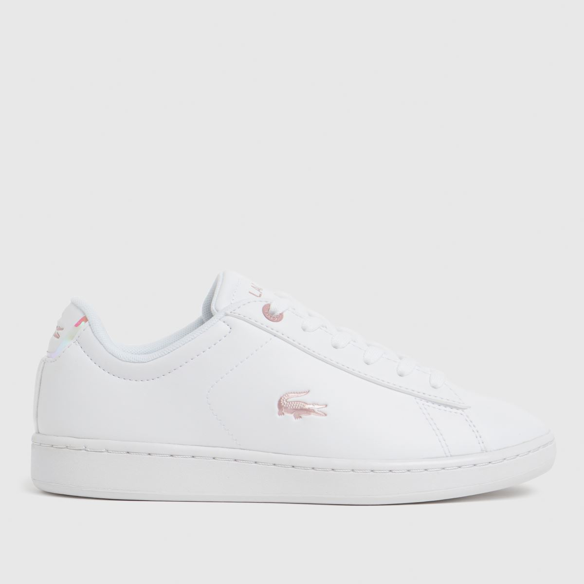 Lacoste White Carnaby Evo Trainers Youth