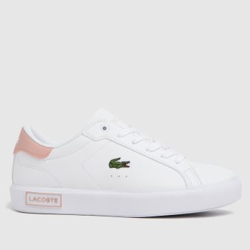 Lacoste White & Pink Powercourt Girls Youth
