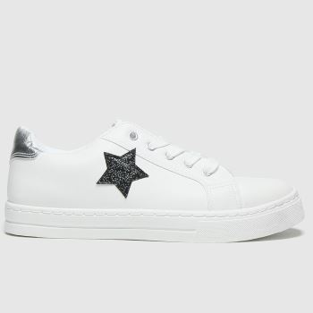 schuh White & Black Constellation Lace Up Girls Youth