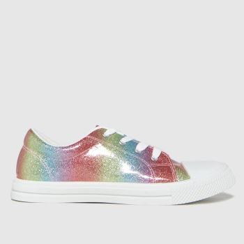 schuh Multi Magic Glitter Lace Up Girls Youth